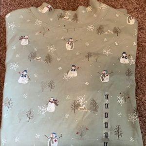 Adorable snowman holiday top